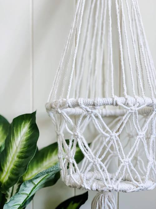Hanging Planter | Macrame | Single Pot Holder | 100cm | Bliss Gifts & Homewares | Milton | Online & In-store | 0427795959 | Afterpay available