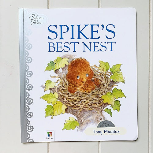 Spike's Best Nest by Tony Maddox.Spike Wakes up on one morning and decides to find a new nest to sleep. Enjoy this vibrant picture book. Discover delightful characters and wonderful stories with silver tales. softback / 32 pages. | Bliss Gifts & Homewares | Milton | Online| 0427795959 | Afterpay available
