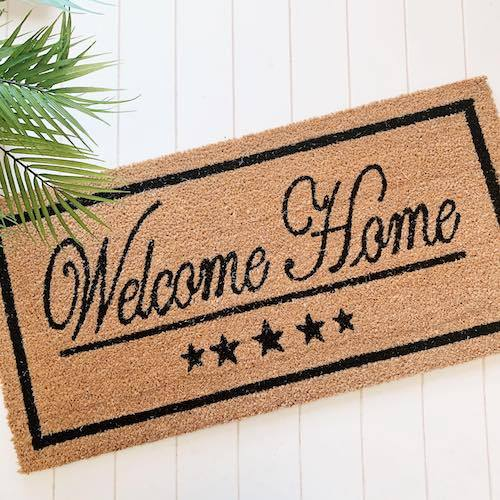 Coir Door Mat | Welcome Home Wide Doormat | W45cm x L90cm | Door Mat | Bliss Gifts & Homewares | Milton | Online & In-store | 0427795959 | Afterpay available