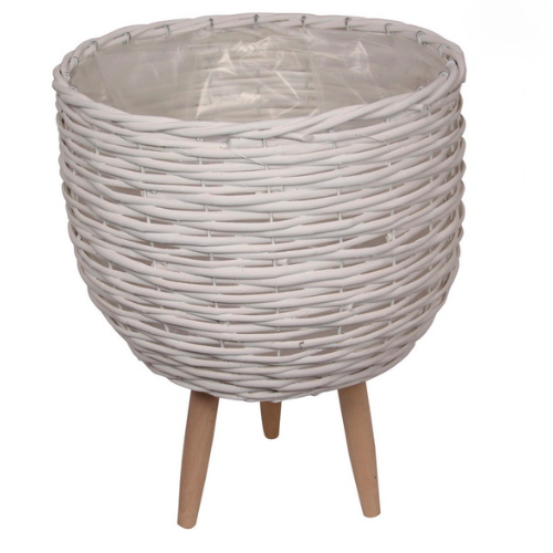 Elevate the look of your plant or floral display with our large White Wicker pot planter. Indoor plants are on trend and our stylish Wicker planters are perfect for showing off your gorgeous greenery.  | Bliss Gifts & Homewares | Milton | Online | 0427795959 | Afterpay available