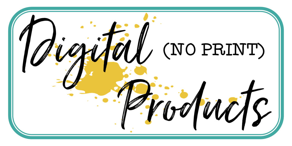All Digital (No Print) Products