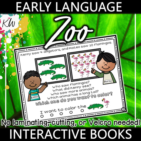 Early Language Interactive Book - Zoo Theme