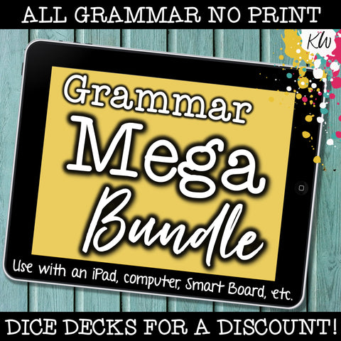 NO PRINT Speech Therapy Grammar BUNDLE