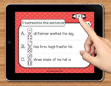 NO PRINT (Digital) Sentence Structure Game: Unscramble the Sentence