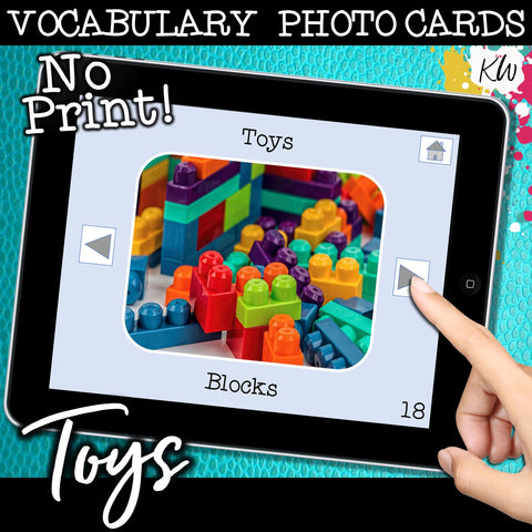 NO PRINT Toys Vocabulary Flashcards