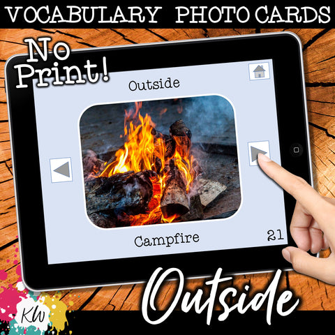 NO PRINT Outside Vocabulary Flashcards