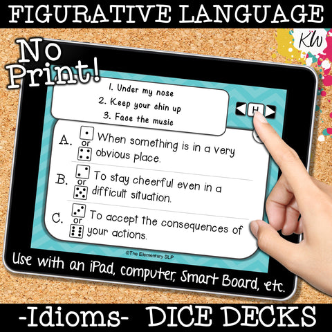 NO PRINT (Digital) Idioms (Figurative Language) Game