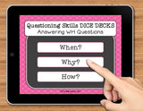 NO PRINT (Digital) WH Questions Speech Therapy Game: Answering When, Why, & How