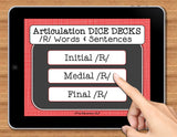NO PRINT Speech Therapy Articulation R Game