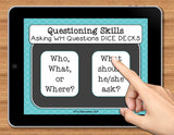NO PRINT (Digital) Speech Therapy Asking WH Questions Game