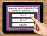 NO PRINT (Digital) WH Questions Speech Therapy Game: Answering Who, What, Where
