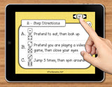 NO PRINT (Digital) Following Directions (Listening Comprehension) Game