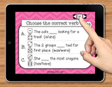 NO PRINT (Digital) Subject Verb Agreement for Helping Verbs Game