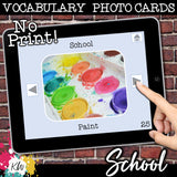 NO PRINT School Vocabulary Flashcards
