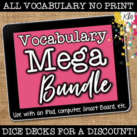 NO PRINT Speech Therapy Vocabulary BUNDLE