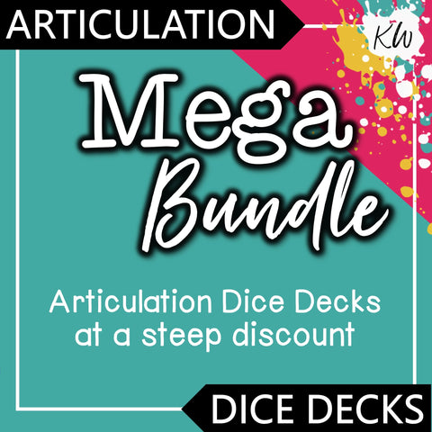 Articulation DICE DECKS Mega Bundle The Elementary SLP Materials Shop