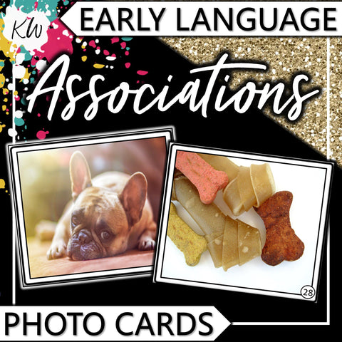 Associations PHOTO CARDS The Elementary SLP Materials Shop