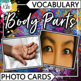 Body Parts PHOTO CARDS The Elementary SLP Materials Shop