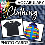Clothing PHOTO CARDS The Elementary SLP Materials Shop