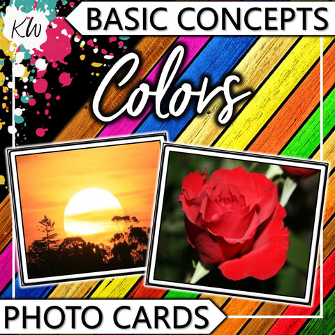 Colors PHOTO CARDS The Elementary SLP Materials Shop
