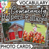 Community Helpers and Places PHOTO CARDS The Elementary SLP Materials Shop