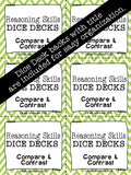 Compare and Contrast DICE DECKS The Elementary SLP Materials Shop
