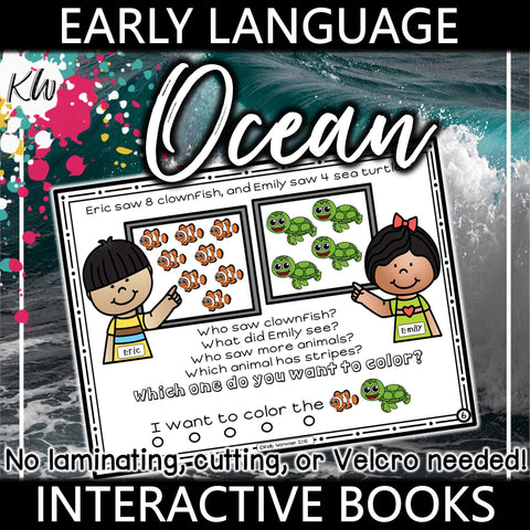 Early Language Interactive Book - Ocean The Elementary SLP Materials Shop