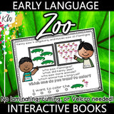 Early Language Interactive Book - Zoo Theme The Elementary SLP Materials Shop