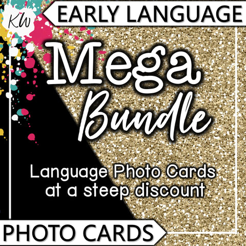 Early Language PHOTO CARDS Mega Bundle The Elementary SLP Materials Shop