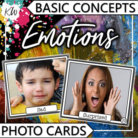 Emotions PHOTO CARDS The Elementary SLP Materials Shop