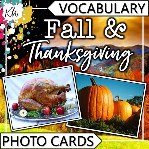 Fall and Thanksgiving PHOTO CARDS The Elementary SLP Materials Shop