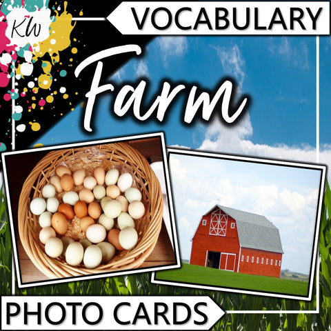 Farm PHOTO CARDS The Elementary SLP Materials Shop
