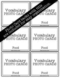 Food PHOTO CARDS The Elementary SLP Materials Shop