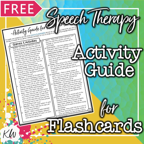 FREE Speech Therapy Flashcards Activity Guide The Elementary SLP Materials Shop