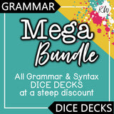Grammar DICE DECKS Mega Bundle The Elementary SLP Materials Shop