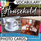 Household PHOTO CARDS The Elementary SLP Materials Shop