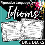 Idioms DICE DECKS The Elementary SLP Materials Shop