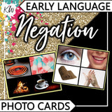 Negation PHOTO CARDS The Elementary SLP Materials Shop