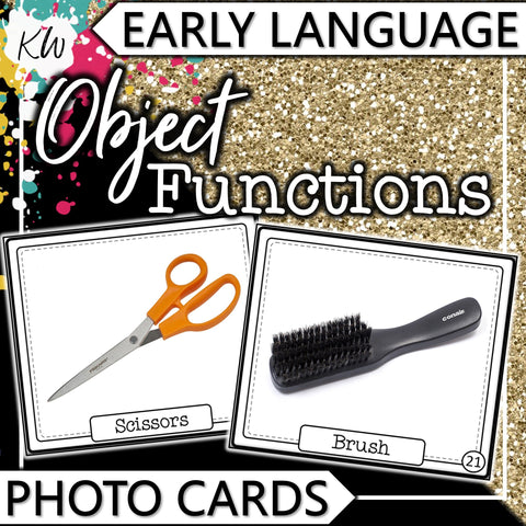 Object Functions PHOTO CARDS The Elementary SLP Materials Shop
