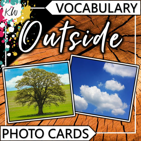 Outside PHOTO CARDS The Elementary SLP Materials Shop