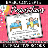 Prepositions Interactive Book The Elementary SLP Materials Shop
