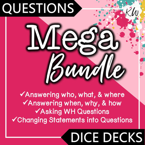 Questioning Skills DICE DECKS Mega Bundle The Elementary SLP Materials Shop
