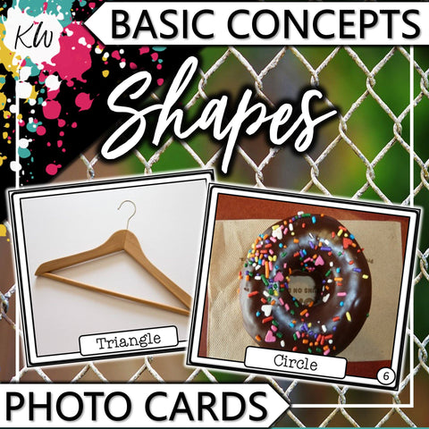 Shapes PHOTO CARDS The Elementary SLP Materials Shop