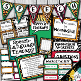 Speech Therapy Decor: Animal Print Speech Room Decor The Elementary SLP Materials Shop