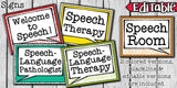Speech Therapy Decor: Confetti Speech Room Decor The Elementary SLP Materials Shop