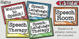 Speech Therapy Decor: Crayon Scribbles Room Decor The Elementary SLP Materials Shop