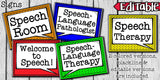 Speech Therapy Decor: Lego Speech Room Decor The Elementary SLP Materials Shop