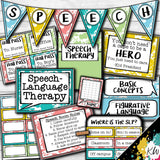 Speech Therapy Decor: Paint Splatter Speech Room Decor The Elementary SLP Materials Shop