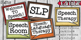 Speech Therapy Decor: Polka Dot Speech Room Decor The Elementary SLP Materials Shop