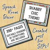 Speech Therapy Decor: Shabby Chic Speech Room Decor The Elementary SLP Materials Shop